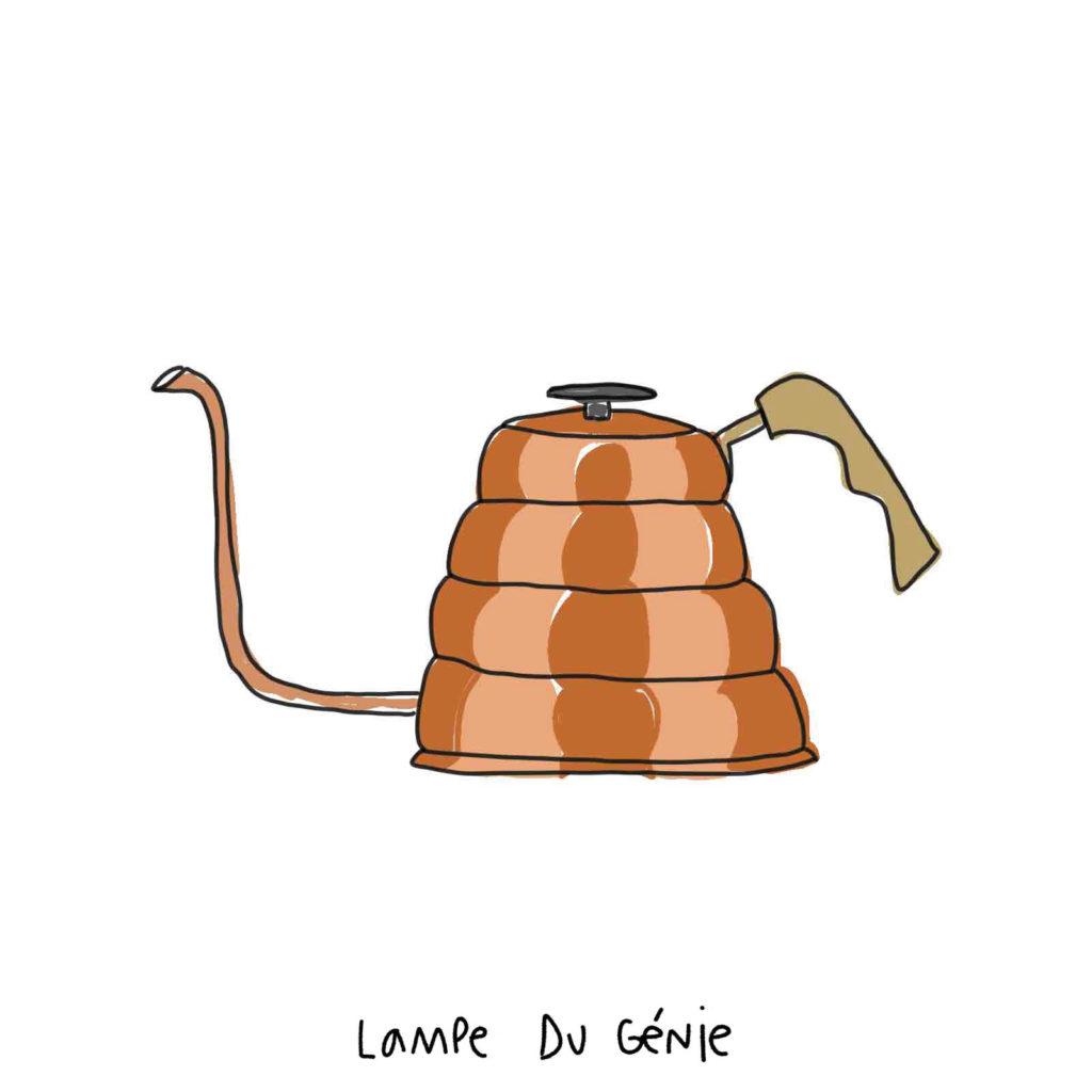 bouilloire pour chauffer l'eau du café et du thé