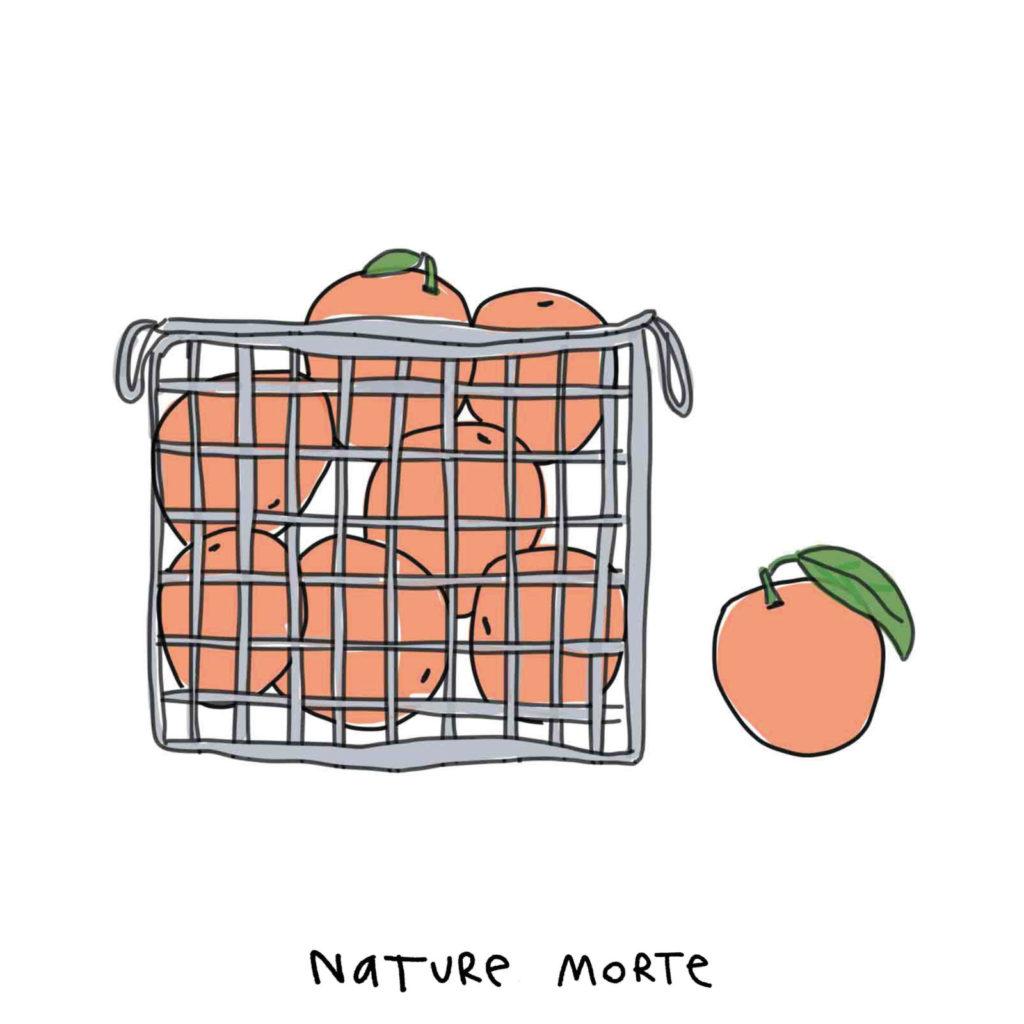 bac à orange utilisés pour le jus de fruit